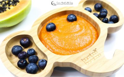 Warm Papaya Puree | Baby Constipation Recipe
