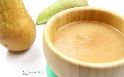 Warm Pear Puree Without Skin | Baby Constipation Recipe